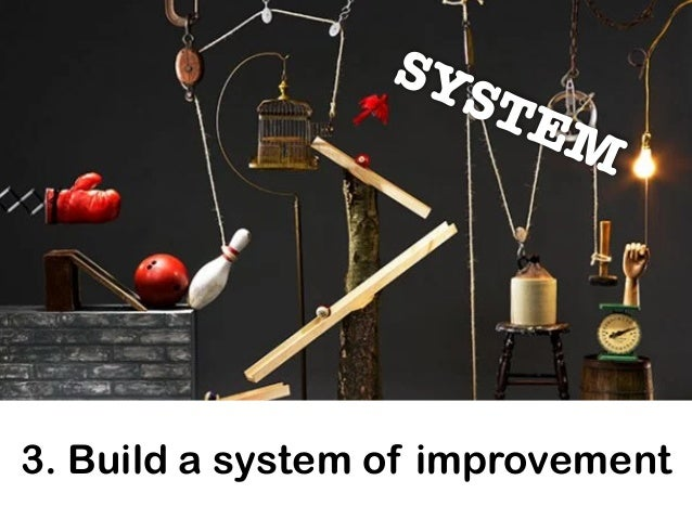 3. Build a system of improvement SYSTEM