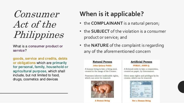 Consumer Rights: Pertinent Philippine Laws
