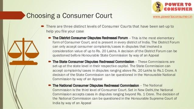 ... 4. Choosing A Consumer Court ...