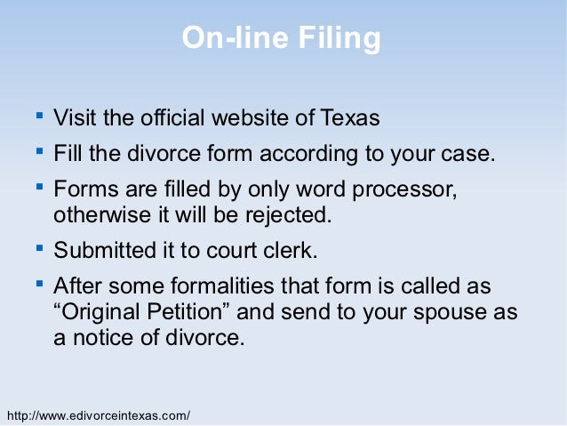 how do you file for divorce in texas