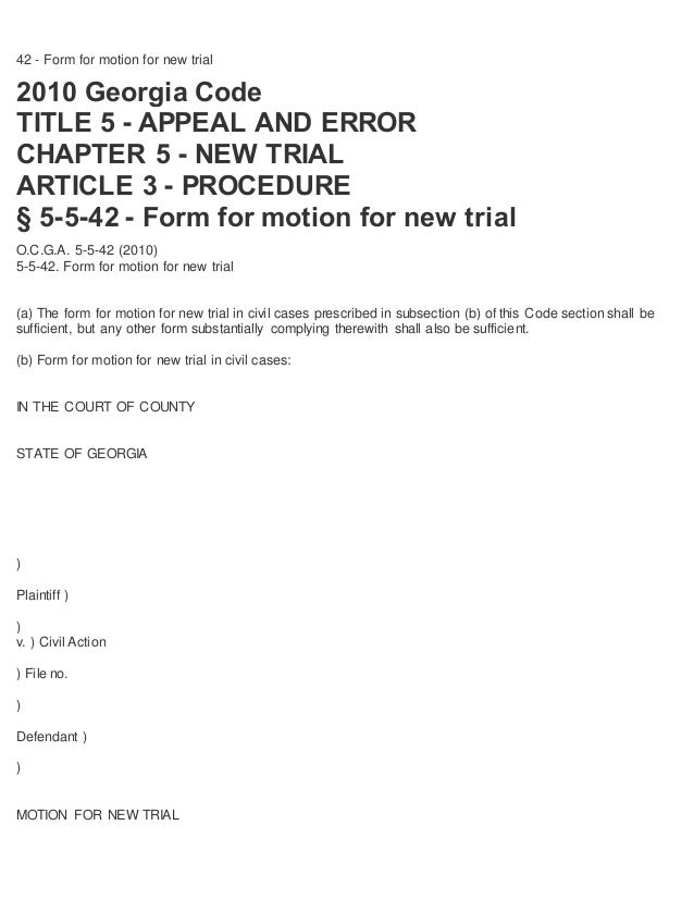 How To File Motion For New Trial 07142015