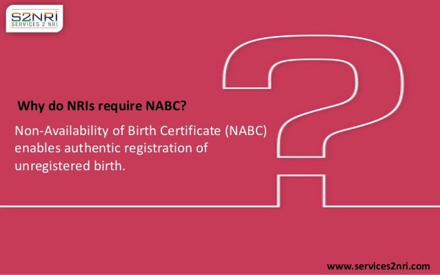 How to fill non availability of birth certificate form by nri how to fill non availability of birth certificate form by nri services2nri 2 yadclub Image collections