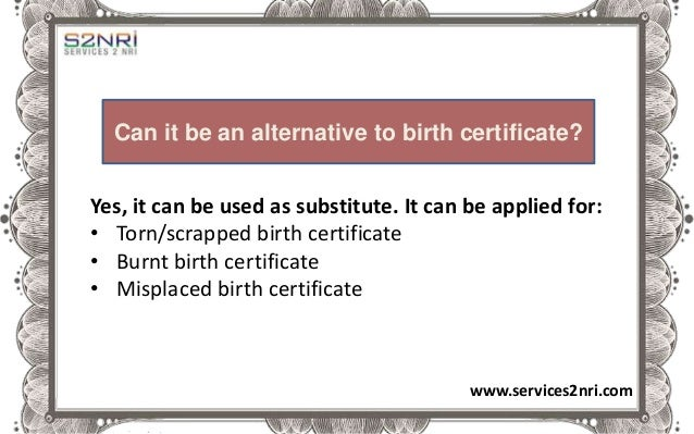 How to fill non availability of birth certificate form by nri non availability of birth certificate nabc enables authentic registration of unregistered birth services2nri 3 yadclub Images