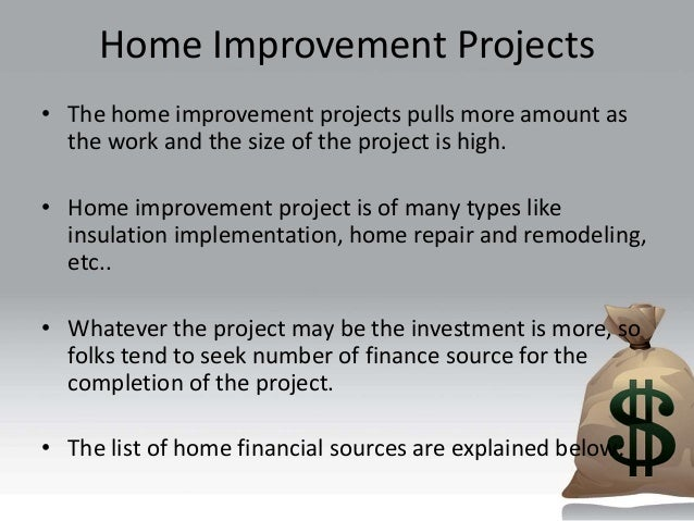 Financing a home improvement project