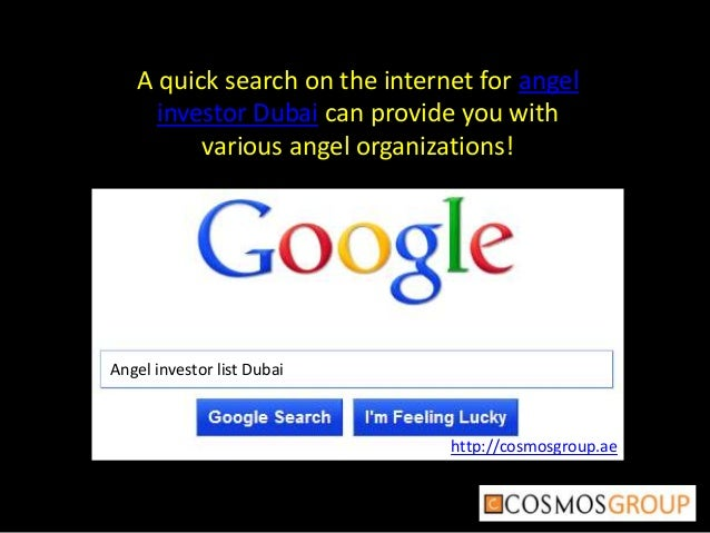 How to find a angel investors for business startup cosmos group