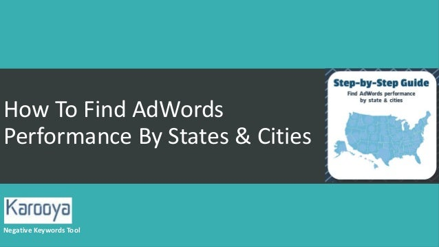 how to find the negative keywords