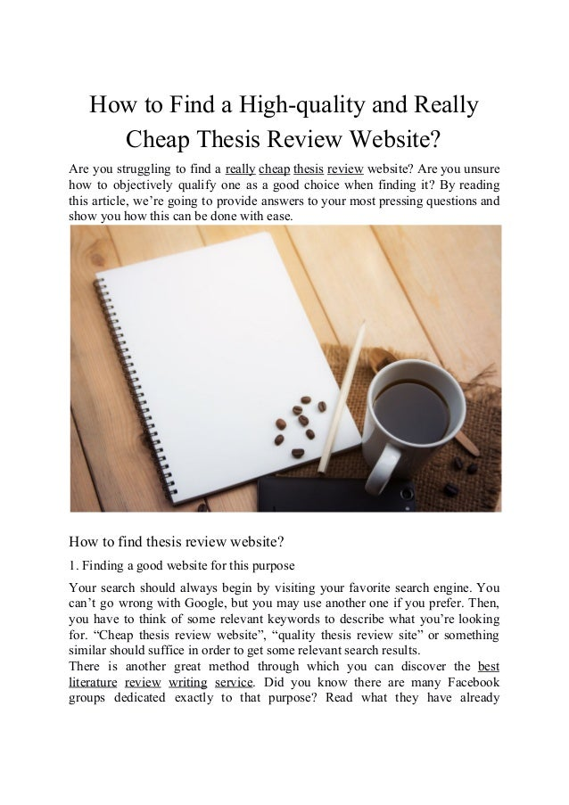 Cheap thesis