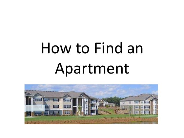 How to Find an Apartment<br />