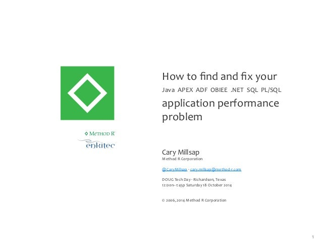 How to find and fix your Oracle application performance problem