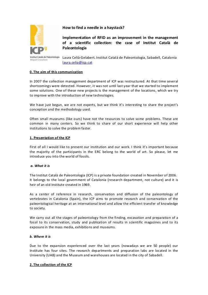 Howtofindaneedleinahaystack?                                                Implementation of RFID as an im...