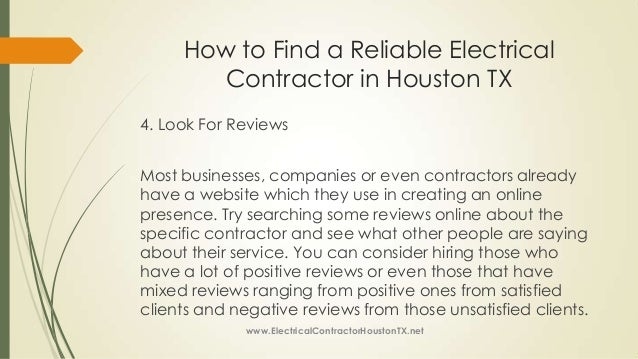 How To Find A Reliable Electrical Contractor In Houston Tx