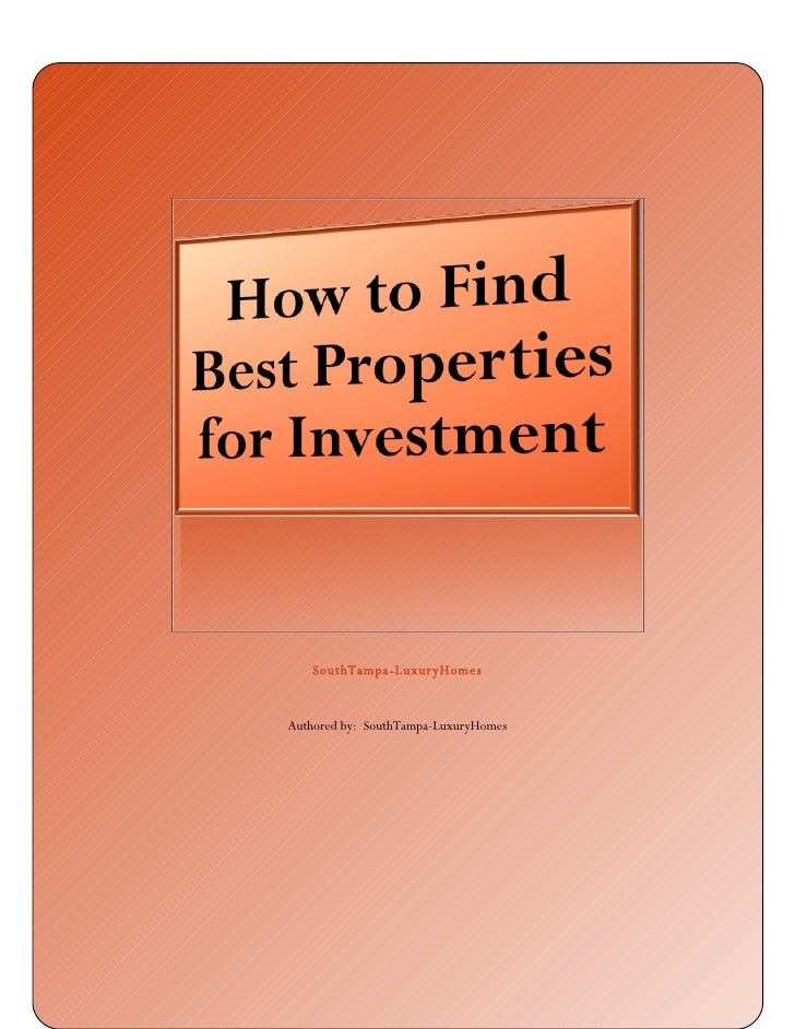 How To Find Best Properties For Investment