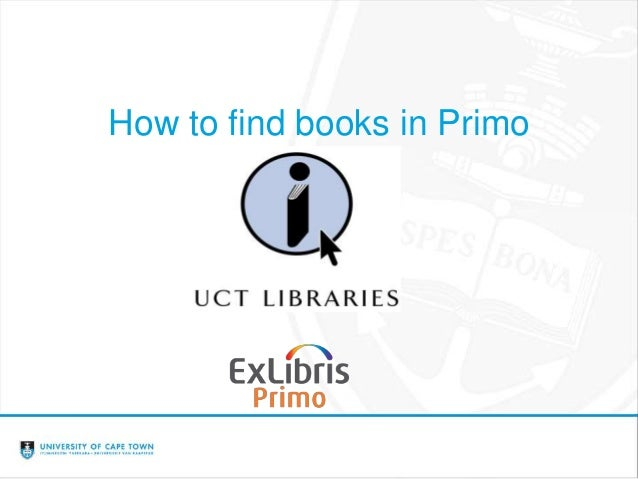 How to find books in Primo