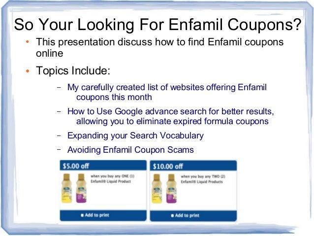 Find Enfamil Coupons