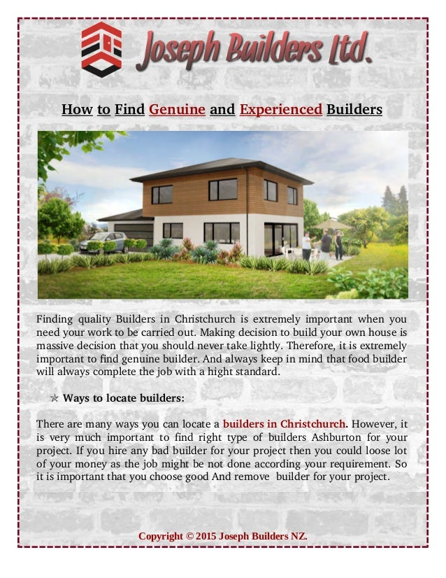 How to Find Genuine and Experienced Builders Finding quality Builders in Christchurch is extremely important when you need...