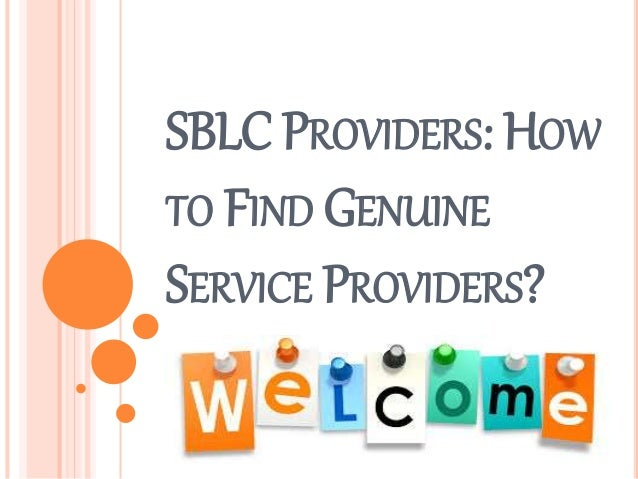 How to Find Genuine SBLC Providers?