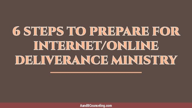How To Find Deliverance Ministry Help When It's Not Local