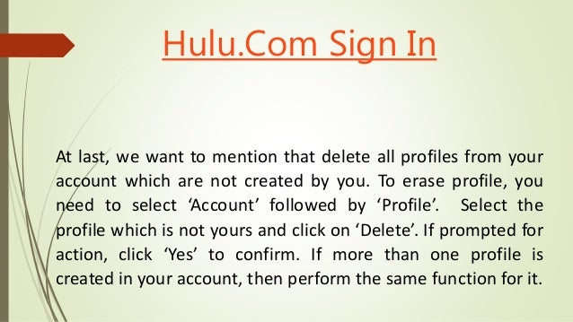 How to find out if your hulu account is hack or not