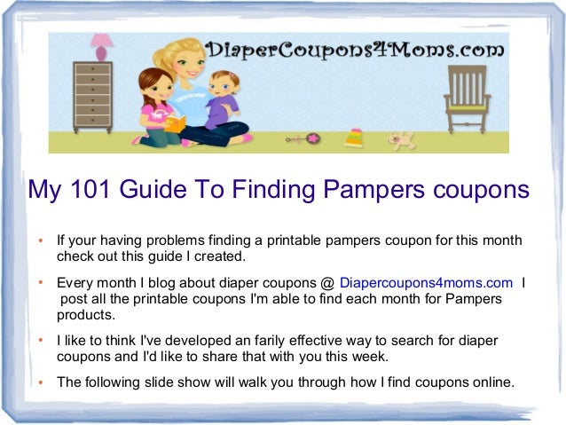 graphic relating to Printable Pampers Coupons titled How In the direction of Glimpse For Pampers Discount coupons On-line - 4 Factors In direction of Notice