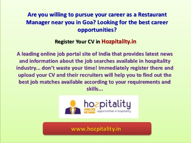 How To Find Restaurant Manager Jobs In Goa