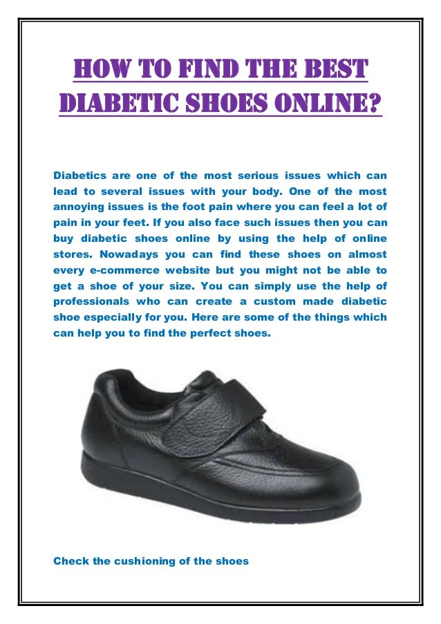 How To Find The Best Diabetic Shoes Online