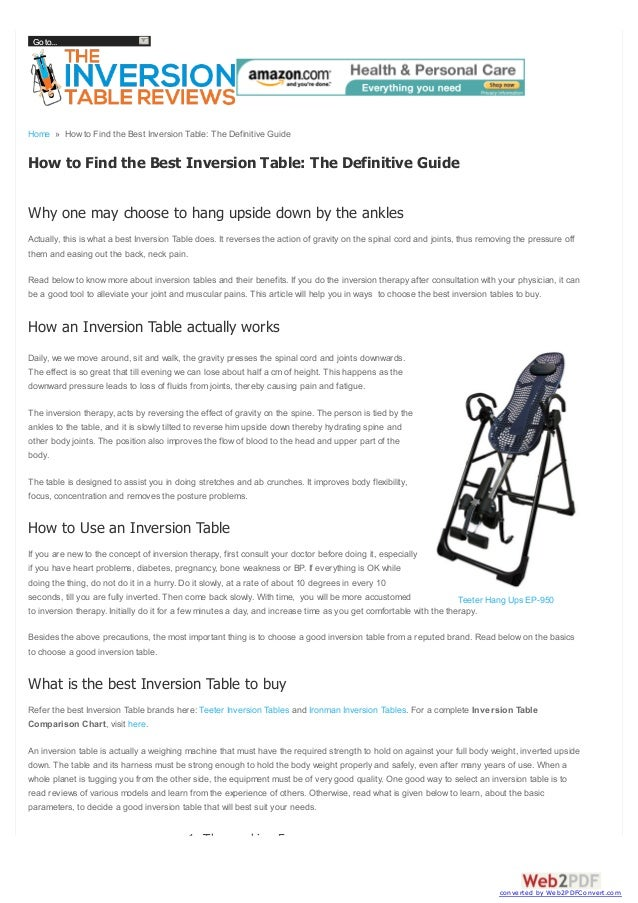 Go to...  Home » How to Find the Best Inversion Table: The Definitive Guide  How to Find the Best Inversion Table: The Def...