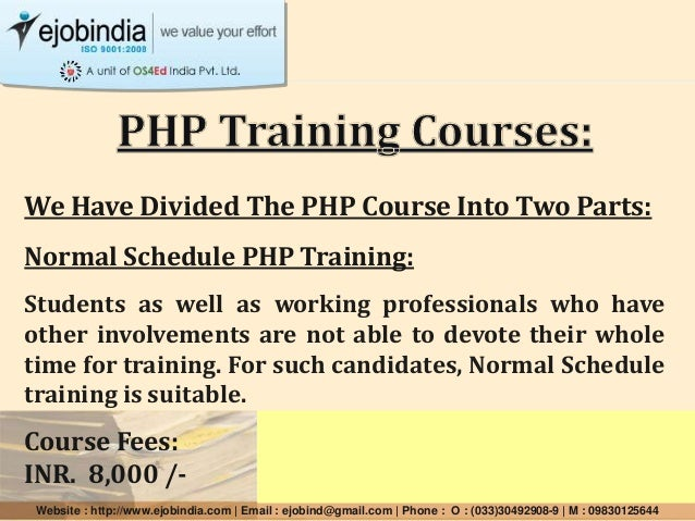 We Have Divided The PHP Course Into Two Parts: Normal Schedule PHP Training: Students as well as working professionals who...