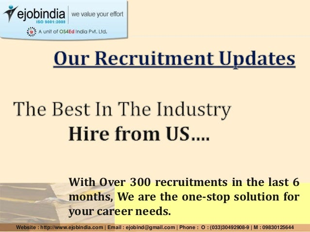 With Over 300 recruitments in the last 6 months, We are the one-stop solution for your career needs. Website : http://www....