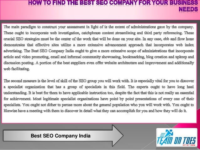How to Find the Best SEO Company for Your Business Needs Slide 2