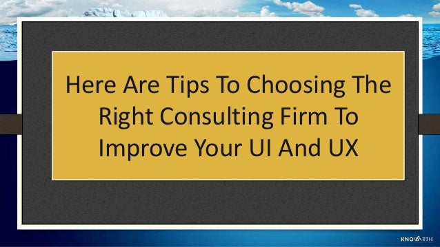 1. List The Reasons Why You Need To Enhance Your UI And UX Knowing why you need help from a UX and UI consulting firm can ...