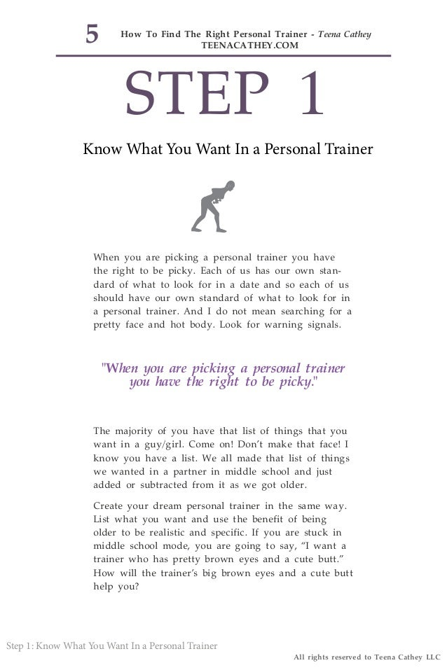 Free ebook how to find the right personal trainer personal trainer 5 fandeluxe Epub