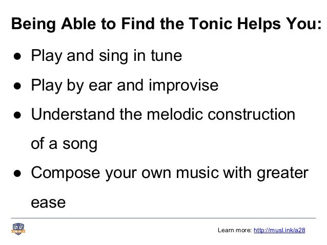 How to find the tonic of any song in a major key