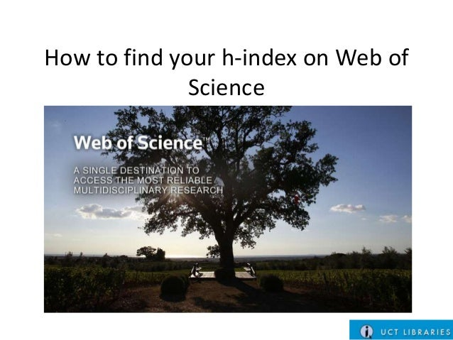 How to find your h-index on Web of Science