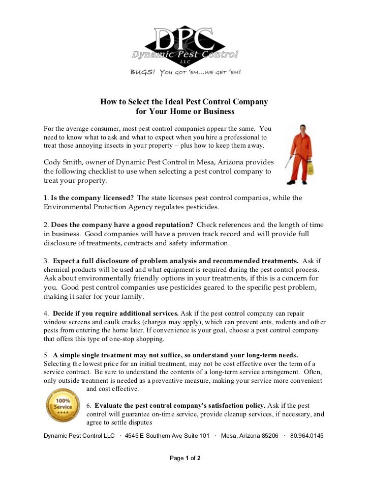 How To Select The Ideal Pest Control Company For Your Home Or Busine