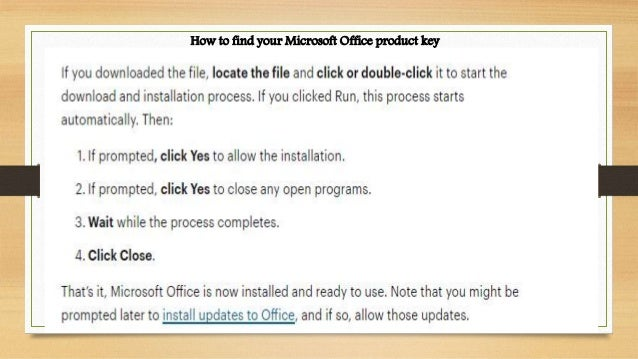 How to find your ms office product key