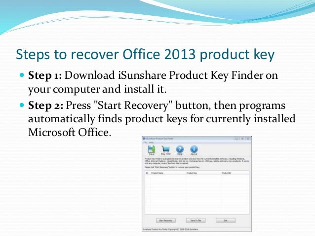 How to find your office 2013 product key