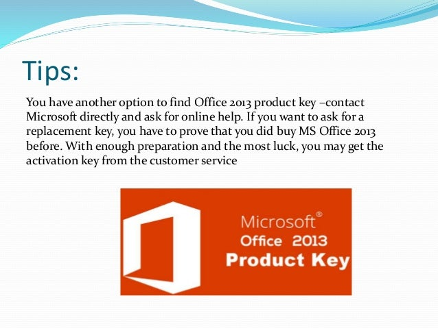 find your office product key 2013