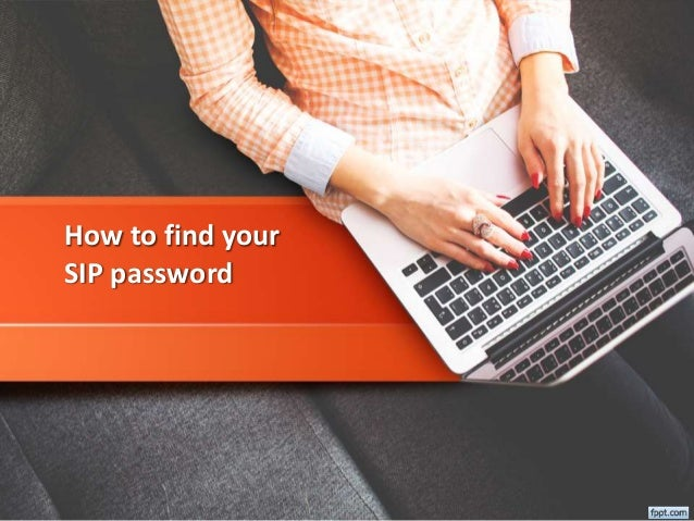 How to find your SIP password