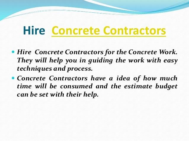 How To Finish Concrete Work - Rimicon - 웹