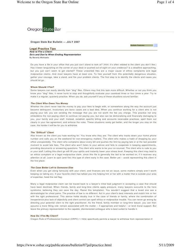 client termination letters