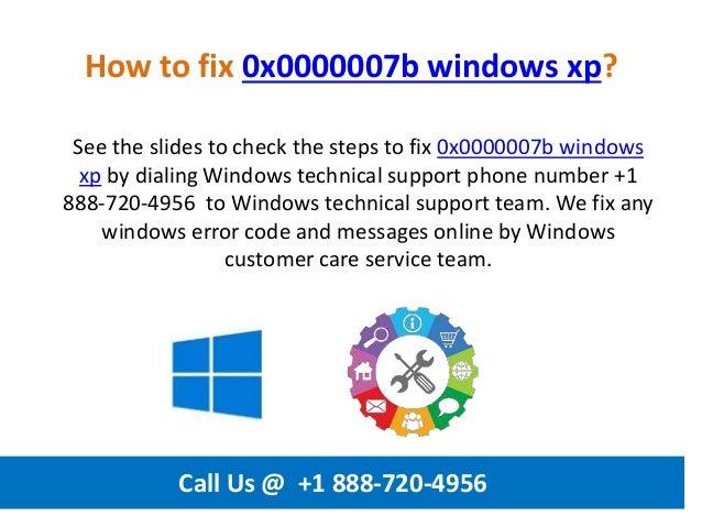 How to fix 0x0000007b windows xp call us @ +1 888 720-4956