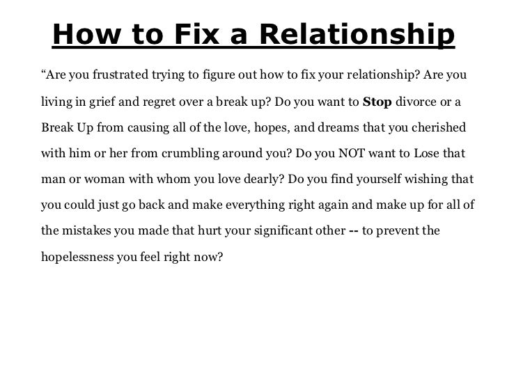 How To Fix A Relationship While Getting Back Together