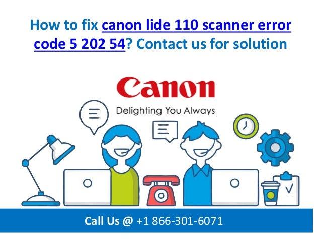 Canon Scanner LiDE 210, Error 5,202,54