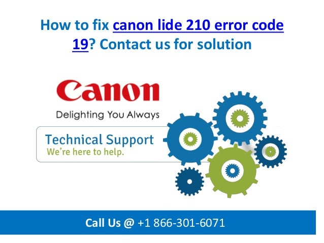How to fix canon lide 210 error code 19 call us @ +1 866 301