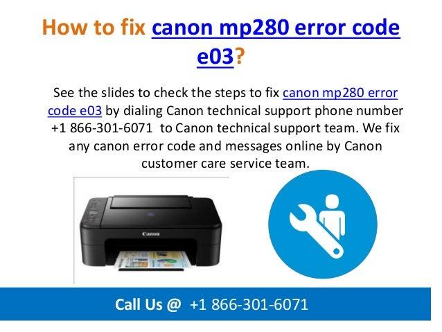 Becoming Phill) Canon mp280 error codes