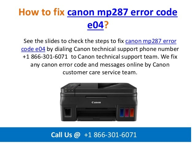 Canon Error E04