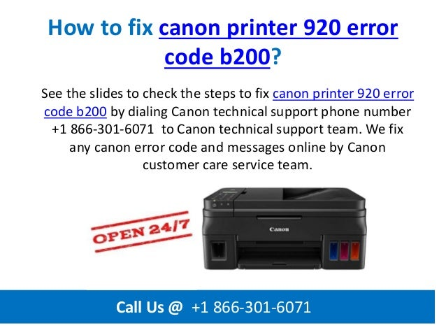2 How To Fix Canon Printer 920
