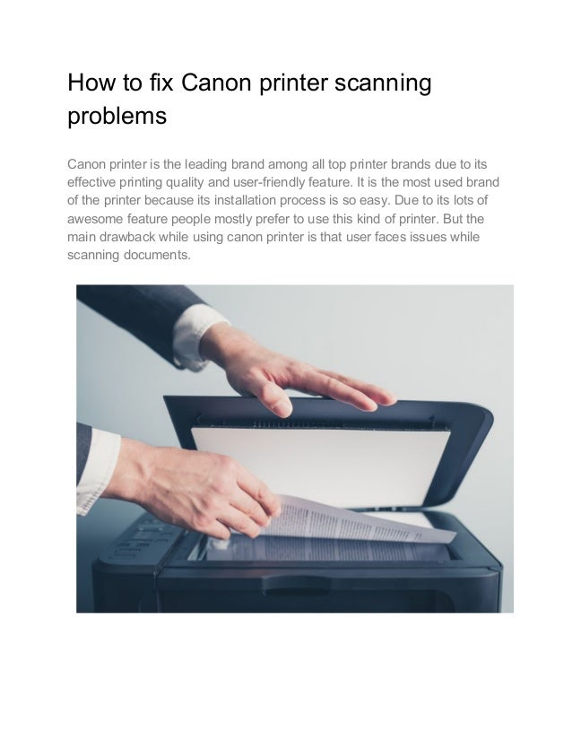 How to fix Canon printer scanning problems