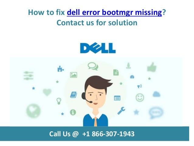missing bootmgr fix