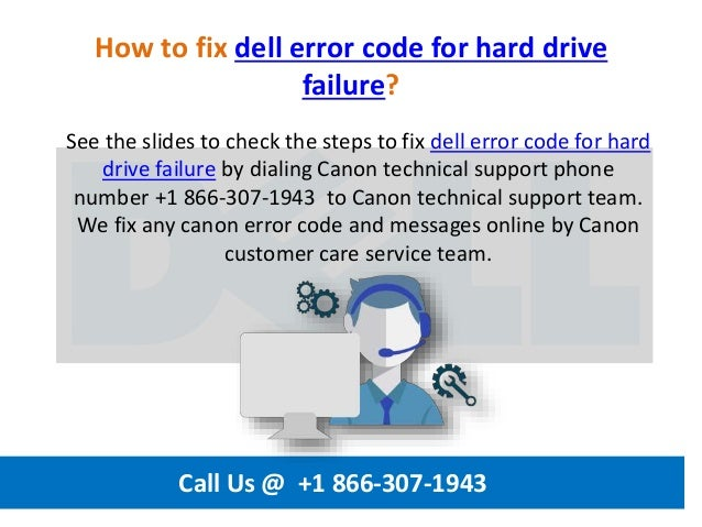 How to fix dell error code for hard drive failure call us